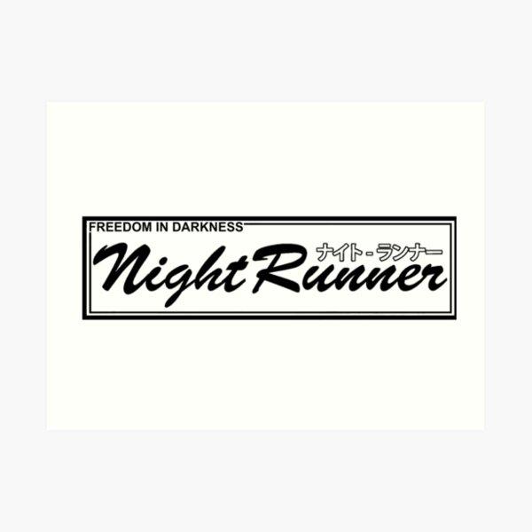 Accordeur à la dérive JDM Racing Night Runner OG V Impression artistique
