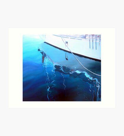 Yacht Reflection - Oil on Canvas Art Print