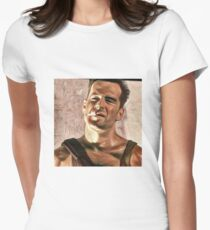Die hard is art Women's Fitted T-Shirt