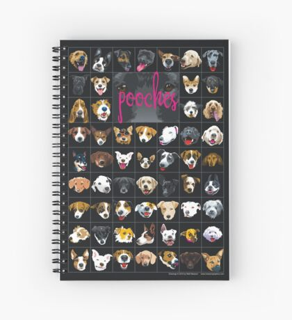pooches Spiral Notebook