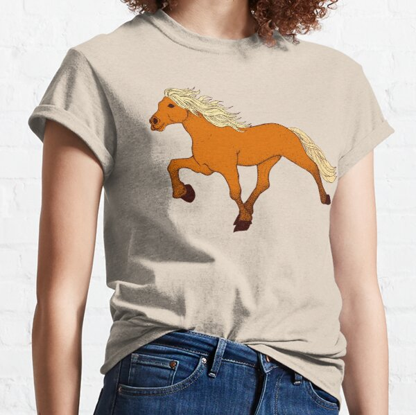 Silver Dapple Tolting Horse Classic T-Shirt