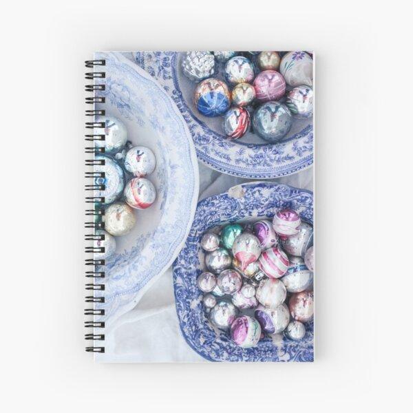 Vintage Christmas Baubles Number 4 Spiral Notebook