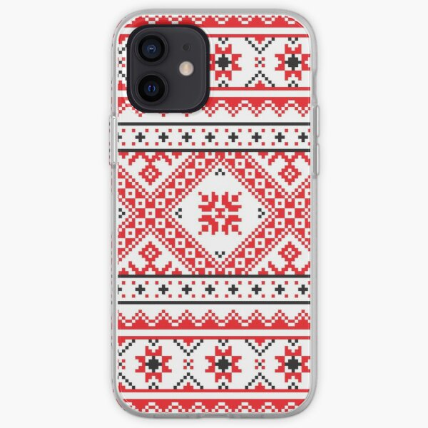 #Ukraine #Pattern - Ukrainian Embroidery: вишивка, vyshyvka #UkrainianPattern #UkrainianEmbroidery iPhone Soft Case