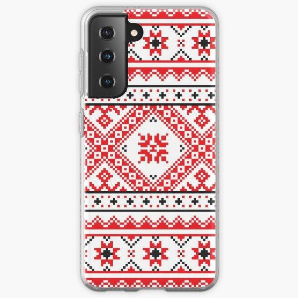 #Ukraine #Pattern - Ukrainian Embroidery: вишивка, vyshyvka #UkrainianPattern #UkrainianEmbroidery Samsung Galaxy Soft Case