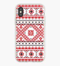 Ukraine Pattern - Ukrainian embroidery: вишивка, vyshyvka #Ukraine #Pattern #Ukrainian #embroidery #вишивка #vyshyvka #UkrainePattern #UkrainianEmbroidery iPhone Case
