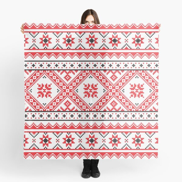 #Ukraine #Pattern - Ukrainian Embroidery: вишивка, vyshyvka #UkrainianPattern #UkrainianEmbroidery Scarf