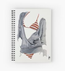 """""""Sexy Clothing lV"""" Acrylic on Canvas Spiral Notebook"""