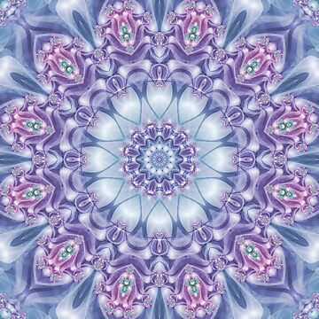 Blue, Purple, and Pink Mandala by kellydietrich