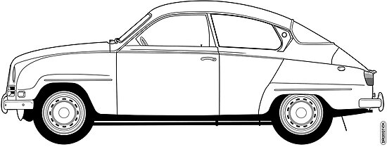 SAAB 96 by thedrumstick