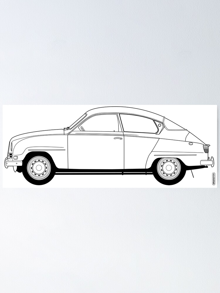 Alternate view of SAAB 96 Poster