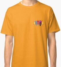 8Bit Nerd Pocket Pixels - 4 light shirt Classic T-Shirt