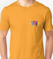 8Bit Nerd Pocket Pixels - 4 light shirt T-Shirt