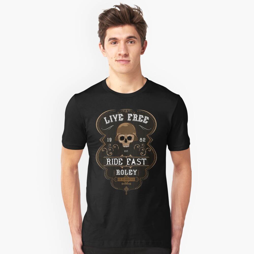 Live Free - Roley Unisex T-Shirt Front