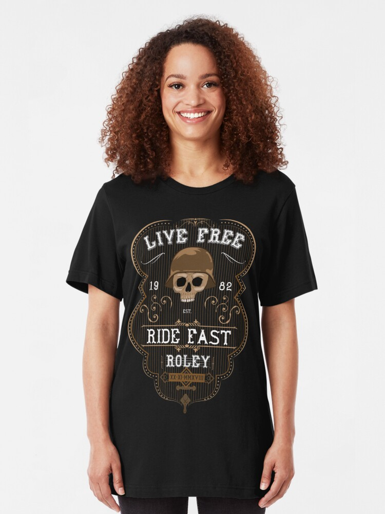 Alternate view of Live Free - Roley Slim Fit T-Shirt