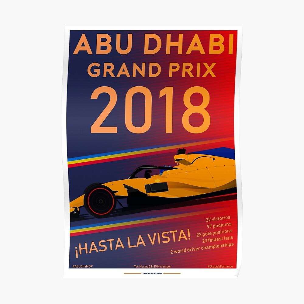 Alonsos Abschied von Abu Dhabi 2018 Poster