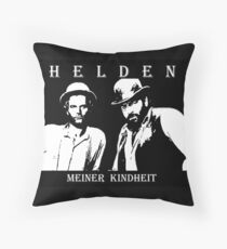 Bud and Terence Throw Pillow