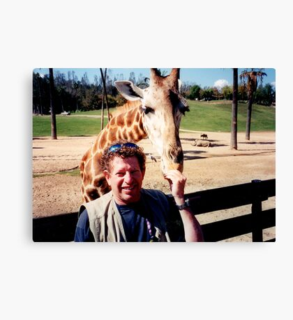 giraffe and me Canvas Print