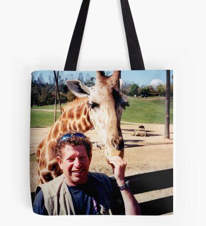 giraffe and me Tote Bag