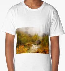 Mountain stream among fall colors Long T-Shirt