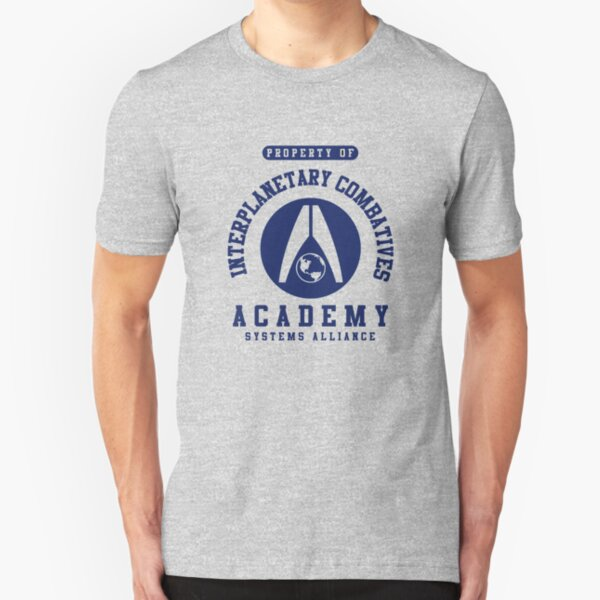 Interplanetary Combatives Academy | Mass Effect | Navy Slim Fit T-Shirt