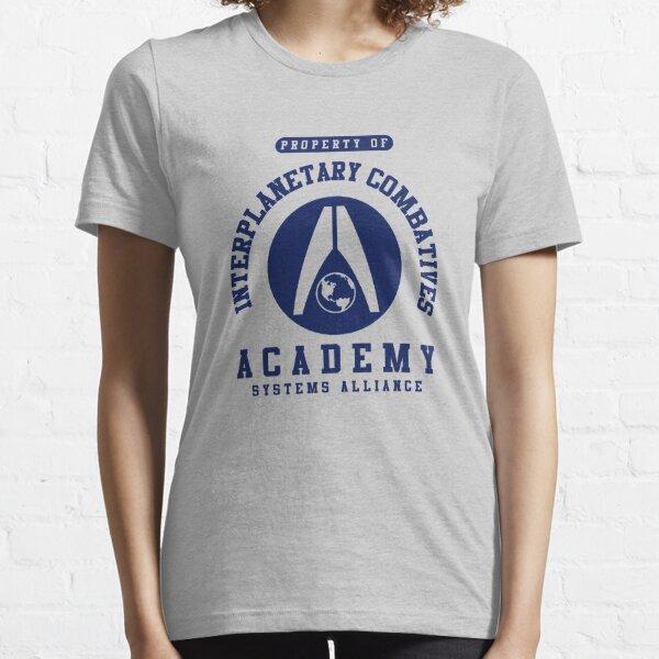 Interplanetary Combatives Academy | Mass Effect | Navy Essential T-Shirt