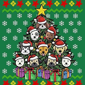 Christmas Tree Dogs Ugly Christmas by frittata