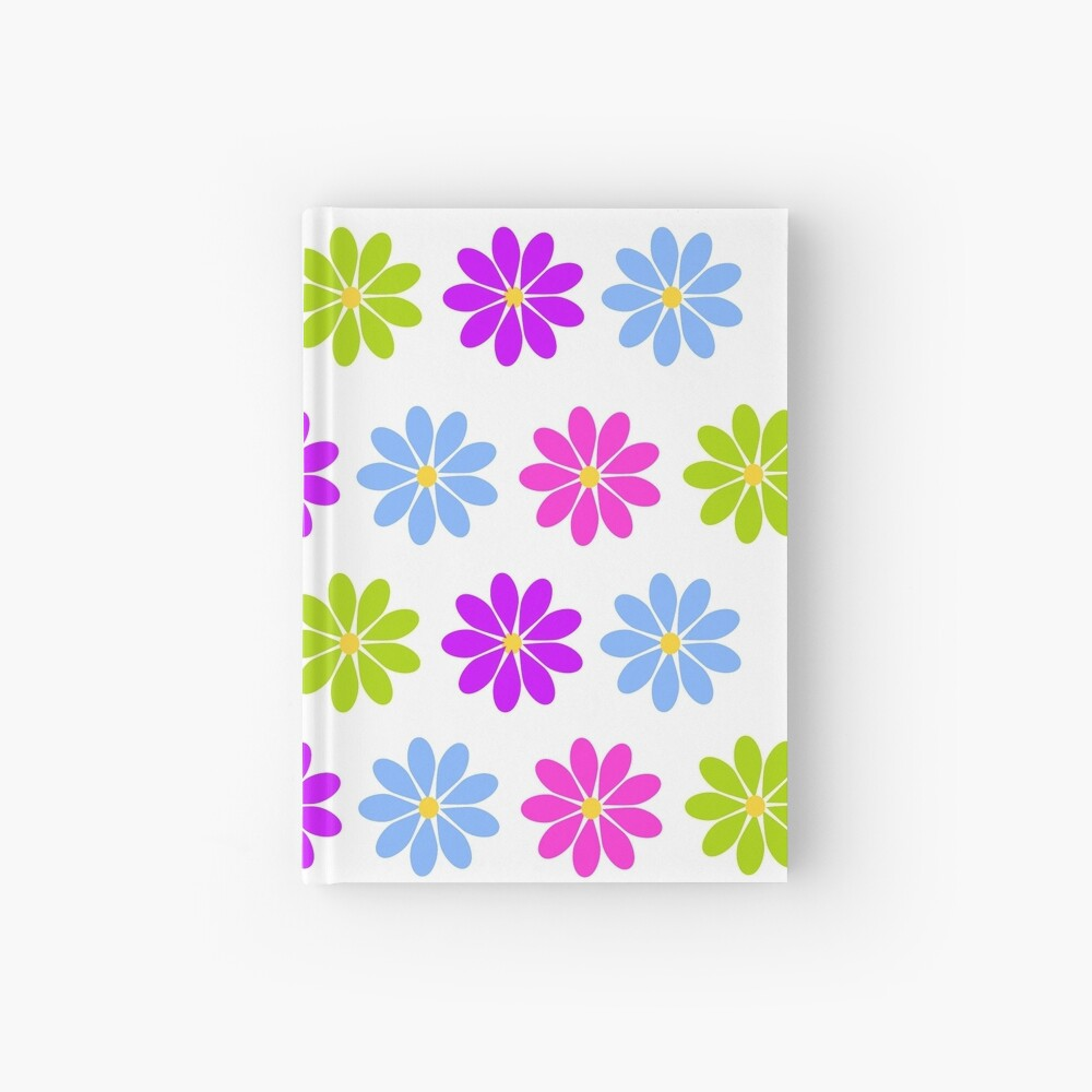 Colorful Flowers Hardcover Journal
