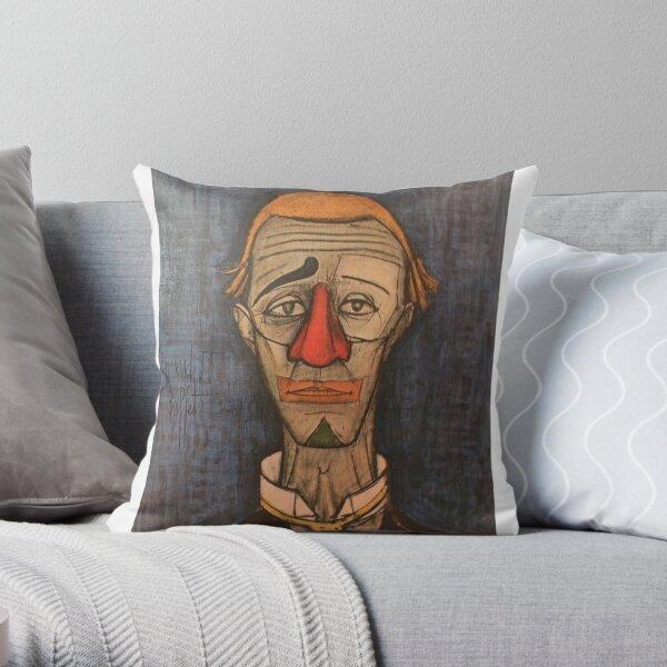 Tete De Clown Bernard buffet Throw Pillow