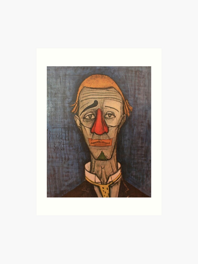 Awesome Tete De Clown Bernard Buffet Art Print Interior Design Ideas Apansoteloinfo