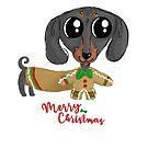 Dachshund Wiener Sausage Puppy Christmas by orichalbaud