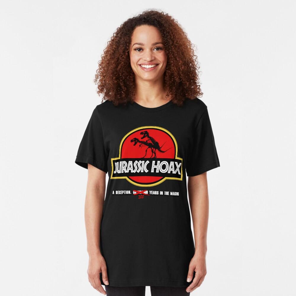 Dinosaur Hoax Slim Fit T-Shirt