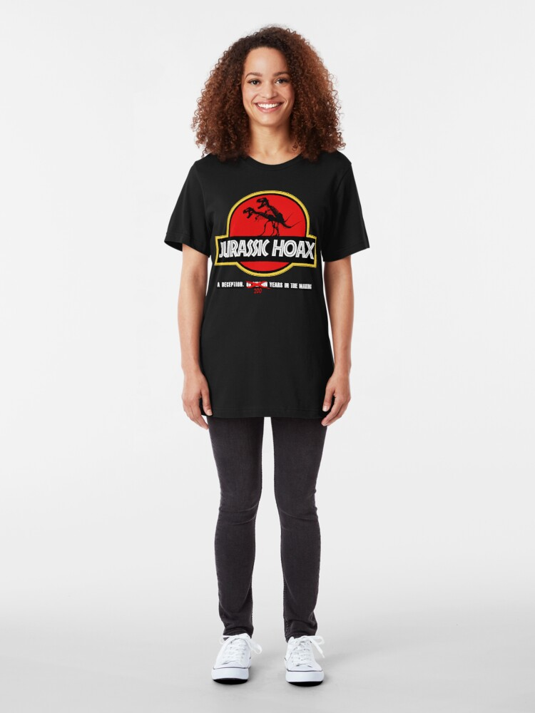 Alternate view of Dinosaur Hoax Slim Fit T-Shirt