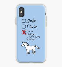 Ich bin ein Einhorn, ich gehe nicht mit Menschen iPhone-Hülle & Cover