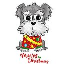 Schnauzer Puppy Christmas! by orichalbaud