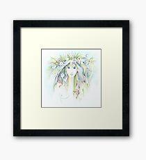 """APRIL"" from ""Calender Sheets"" Framed Print"