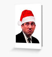 Prison Mike Christmas Santa Claus Greeting Card