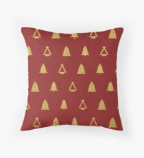 Red Merry Christmas - Pillow Throw Pillow