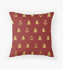 Red Merry Christmas Case Throw Pillow