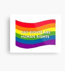Gay Rights are Human Rights Metal Print