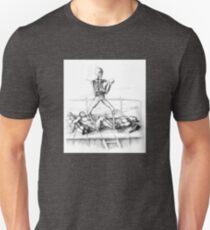Creepy Fighting Skeleton Unisex T-Shirt