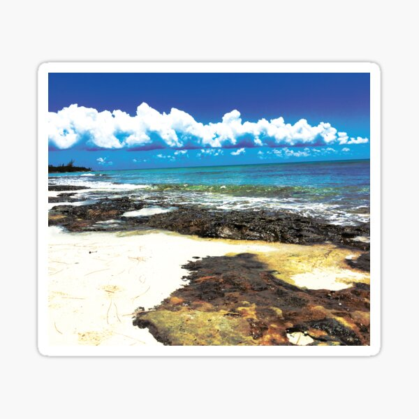 Beach Day in the Bahamas by Jerald Simon (Music Motivation - musicmotivation.com) Sticker