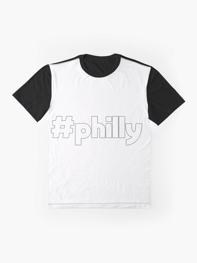 Alternate view of Hashtag Philly Outline Graphic T-Shirt