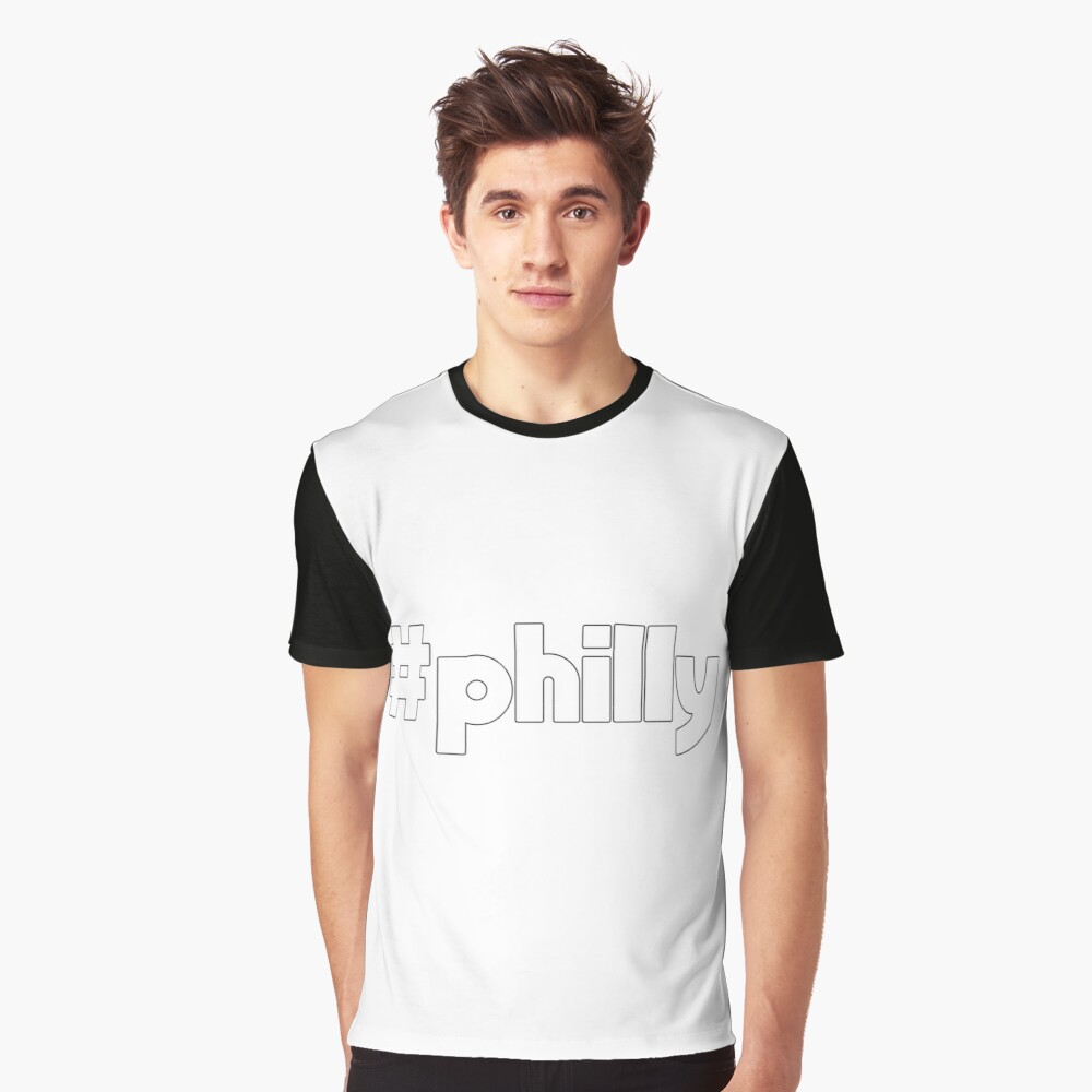 Hashtag Philly Outline Graphic T-Shirt
