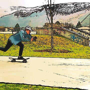 Movie Moves - Skateboarder by NaturePrints