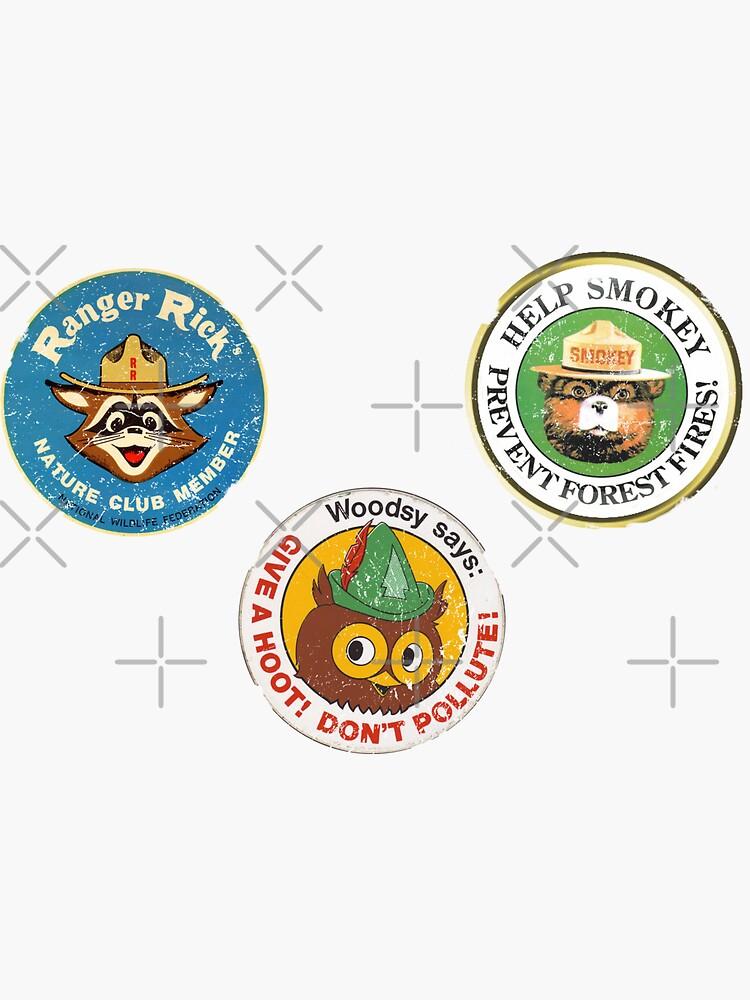 Woodsy Smokey sticker pack by Retrorockit