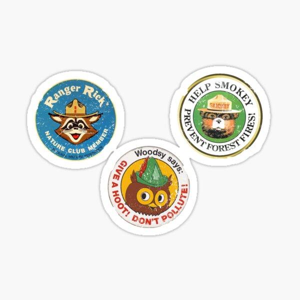Woodsy Smokey sticker pack Sticker