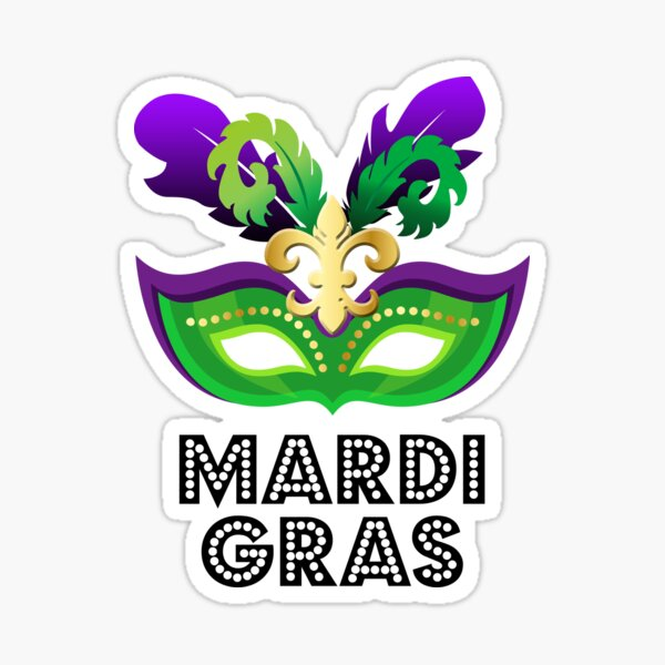 Mardi Gra Party Mask  Sticker