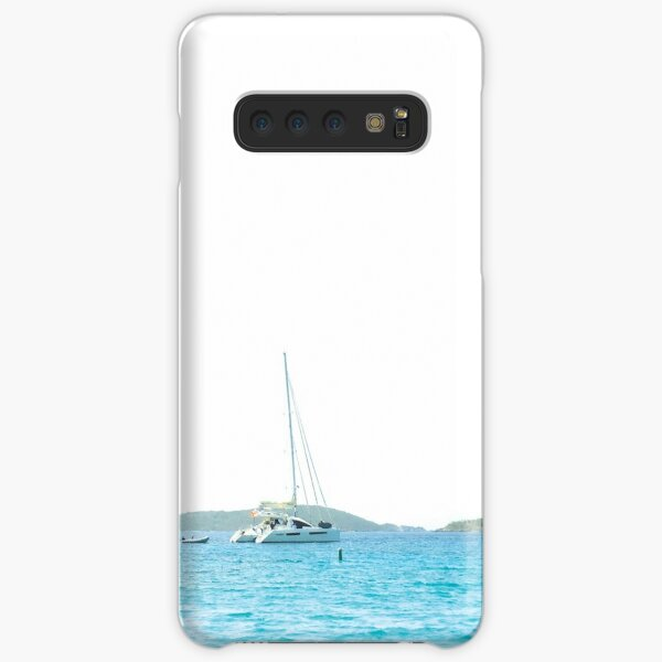 Sailboats on the Ocean near St. John by Jerald Simon (Music Motivation - musicmotivation.com) Samsung Galaxy Snap Case
