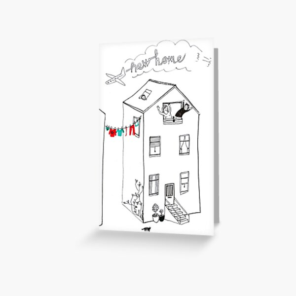 New home - moving house Greeting Card