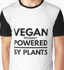 Vegan Proudly Powered By Plants Funny Gift Idea Graphic T-Shirt